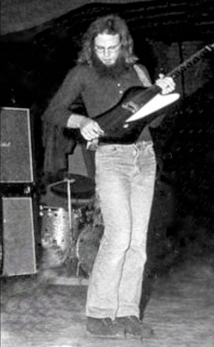 Circa 1968...Billy F Gibbons and the rare, single knob, Gibson Firebird 1