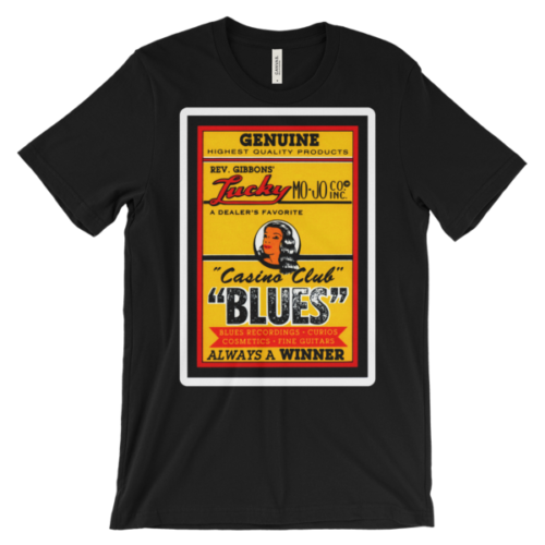 Rev Gibbons' Lucky Mo-Jo Casino Club Unisex short sleeve t-shirt