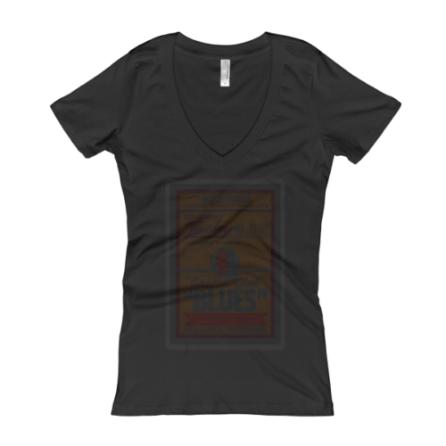Rev Gibbons' Lucky Mo-Jo Casino Club Faded Women's V-Neck T-shirt