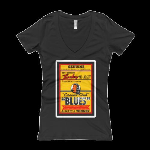 Rev Gibbons' Lucky Mo-Jo Casino Club Women's V-Neck T-shirt