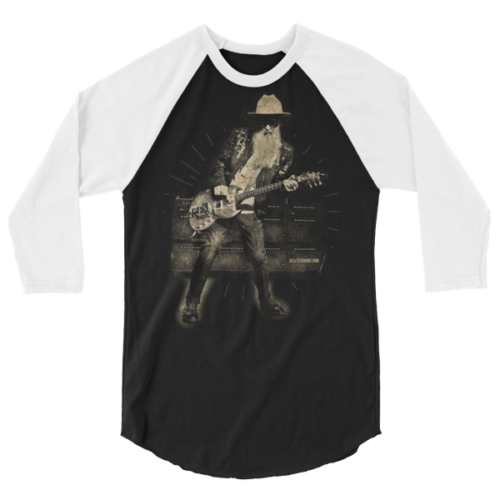 Billy F Gibbons Live III 3/4 sleeve raglan shirt