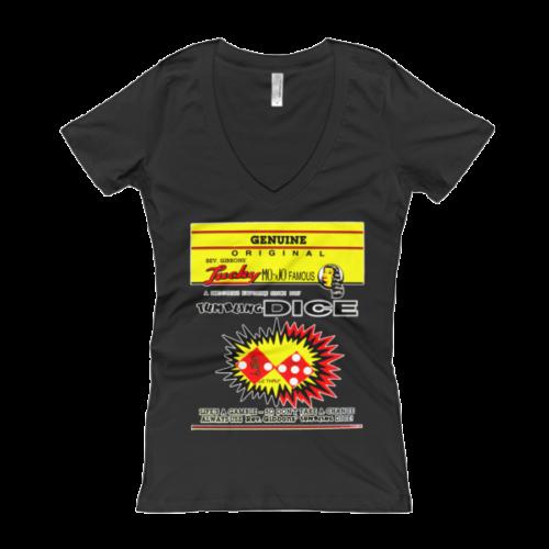 Rev Gibbons Lucky-Mojo Dice Women's V-Neck T-shirt