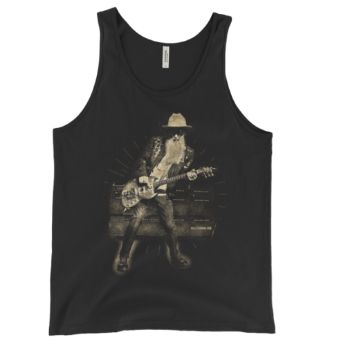 Billy F Gibbons Live III Unisex Tank Top