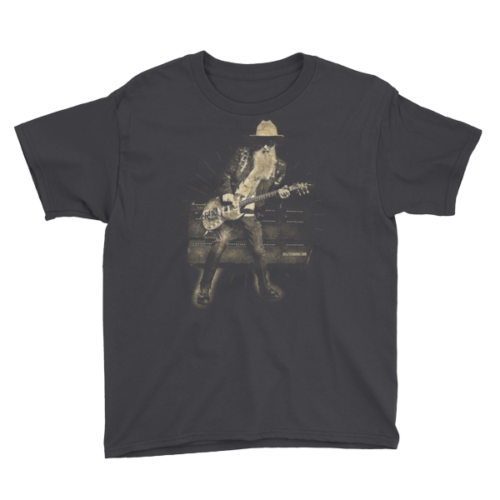 Billy F Gibbons Live III Youth Short Sleeve T-Shirt