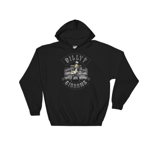 Billy F Gibbons of ZZ Top Live IV Rock Concert Hooded Sweatshirt