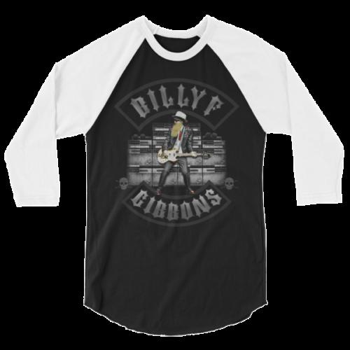 Billy F Gibbons of ZZ Top Live IV Rock Concert T-Shirt – 3/4 sleeve raglan shirt