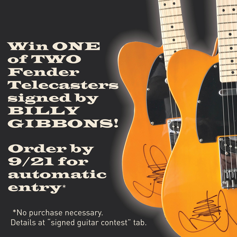 Win 1 Of 2 Fender Telecaster Guitars Signed By Billy Billy F